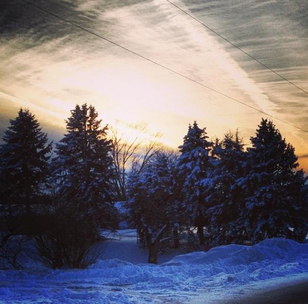 the sun setting on a wonderful Christmas break